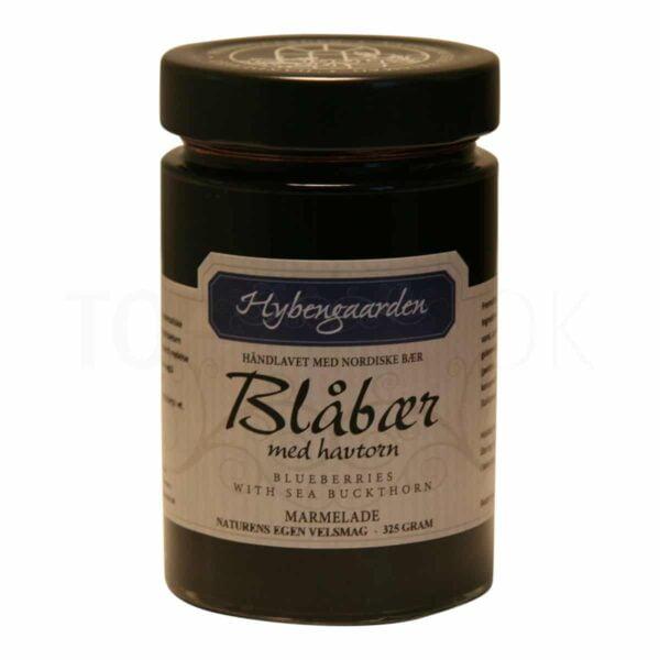 Topvine Hybengaarden Blaabaer med havtorn marmelade