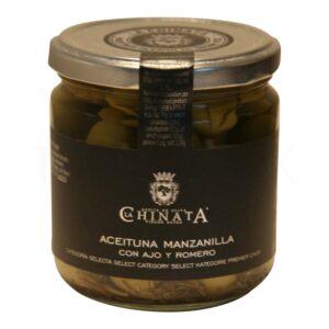 Topvine La Chinata - La Chinata - Groenne oliven med rosmarin & hvidloeg, 200 gr