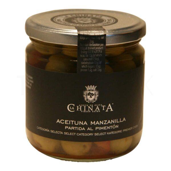 Topvine La Chinata – Oliven med hvidl_g & r_d peber, 200 gr