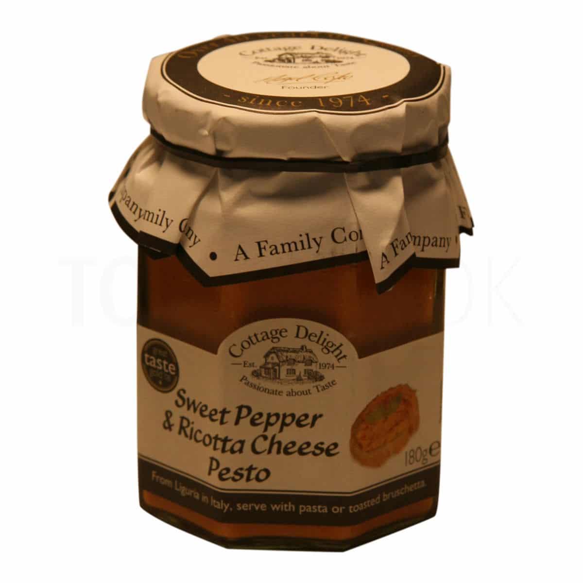 Topvine sweet pepper and ricotta cheese pesto