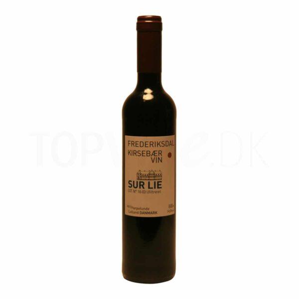Topvine Frederiksdal kirsebaervin vin af kirsebaer Sur LIE 500ml