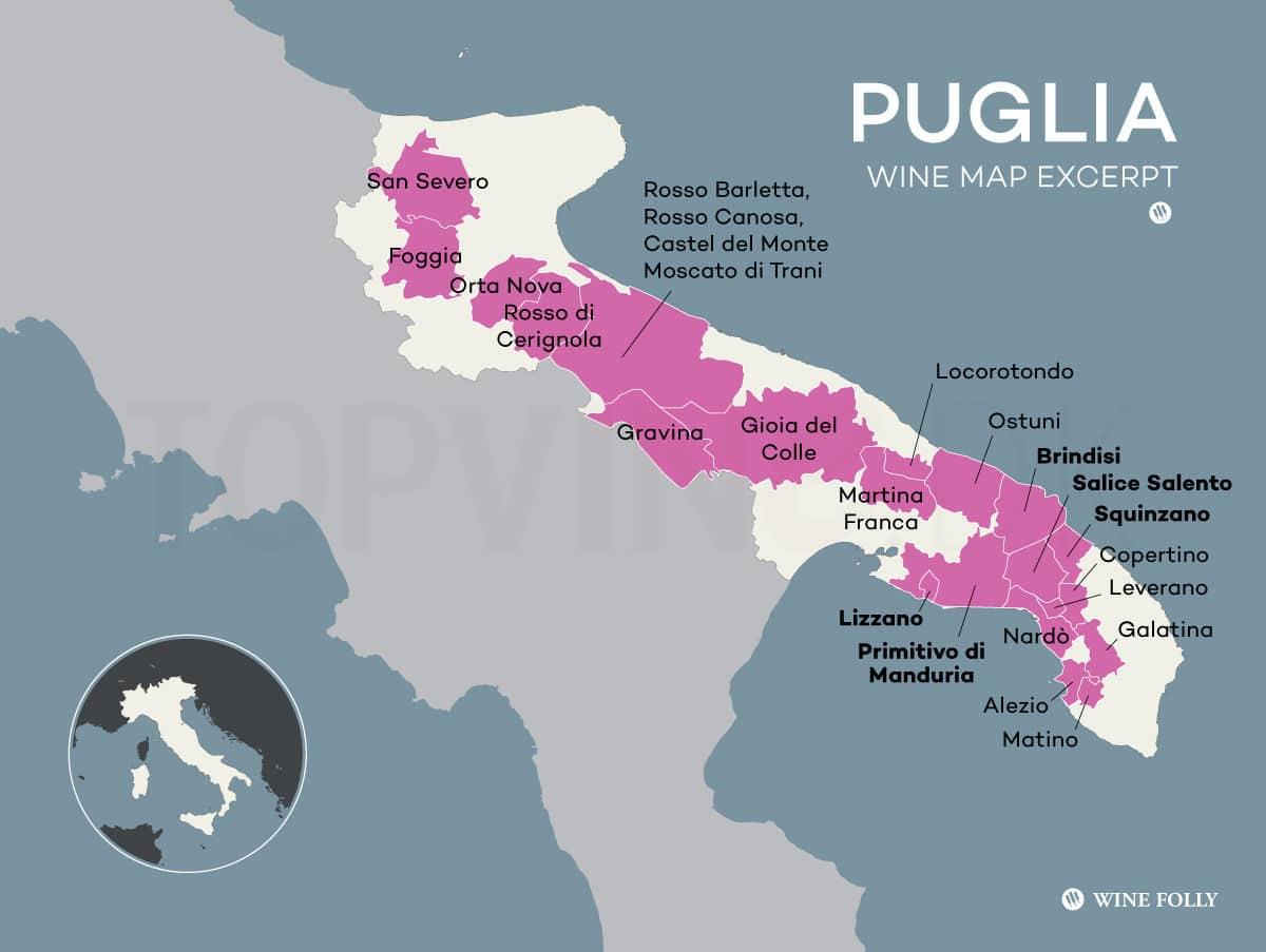 Topvine Puglia vinsmagning
