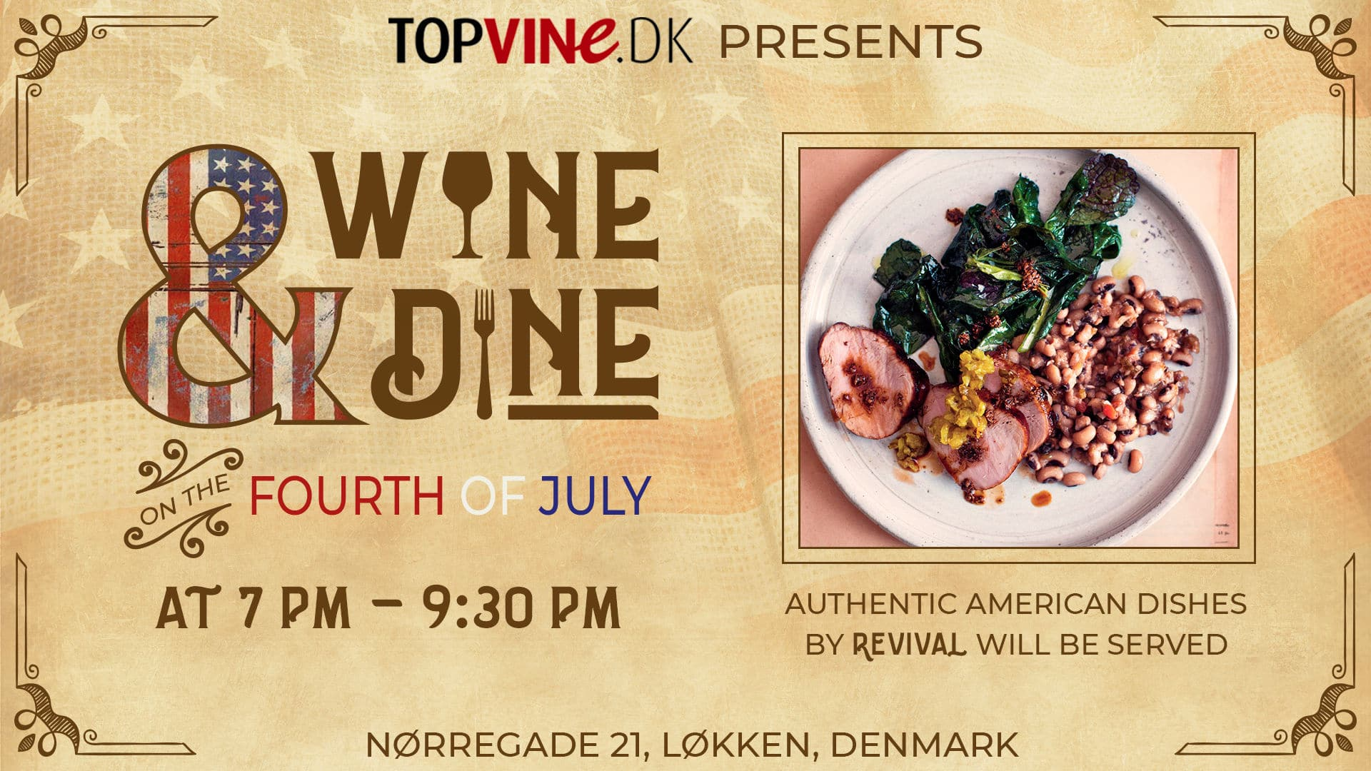 Wine and Dine 4. juli 2019