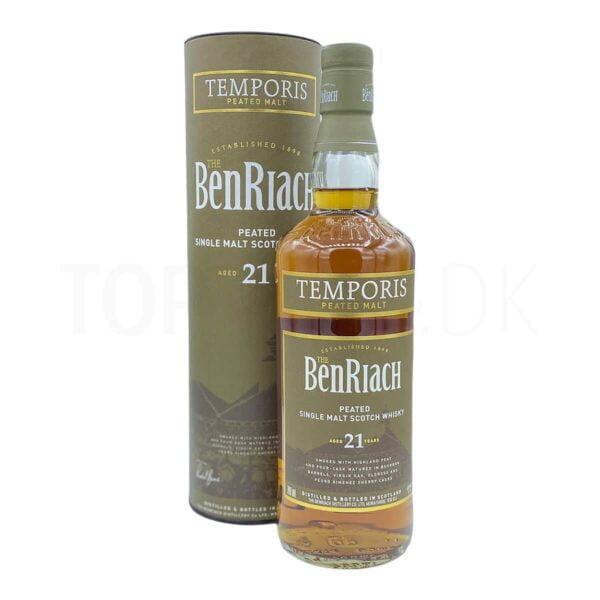 Topvine BenRiach 21 års Peated single malt scotch whisky